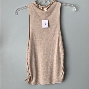 Urban Outfitters Cream High Neck Tank
